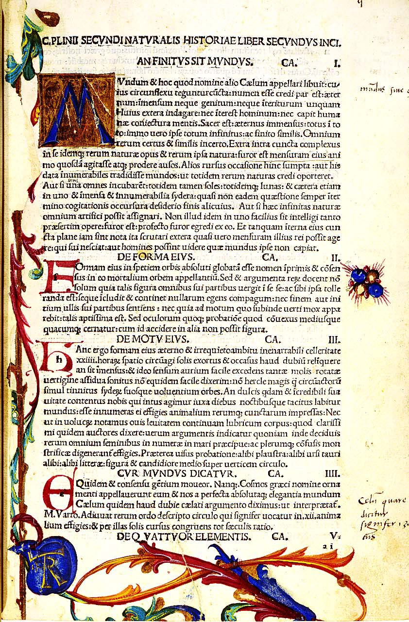 Illuminated text page